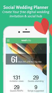 wedding invitations app wedivite free wedding planner invitation app for ios