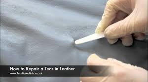 How To Repair Couch Upholstery Repairing A Tear In Leather Youtube