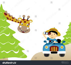 jungle jeep clipart holiday jungle vector cartoon illustration stock vector 692685718
