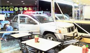 jeep varsity 1 man injured after suv crashes into china king restaurant in