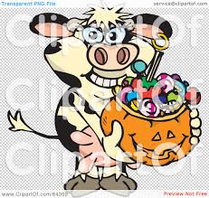 halloween candy background royalty free rf clipart illustration of a trick or treating cow