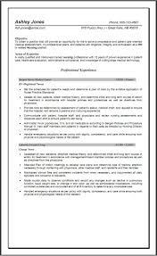 Resume Sle Objectives Sop Proposal - free nursing resume roberto mattni co