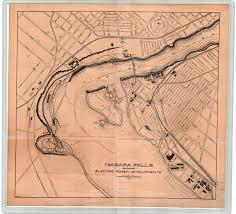 Niagra Falls Map Niagara Falls Showing Electric Power Developments
