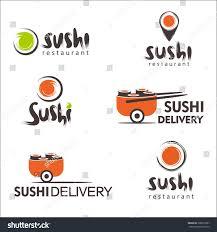 collection vector logos sushi logo design stock vector 398812867