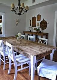 diy chippy farm table w mismatched chairs mismatched chairs
