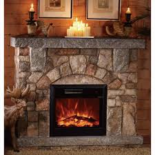 unifire space heater fireplace stone polystone electric fireplace