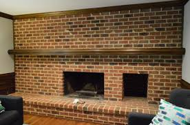 How To Lay Brick Fireplace by How To Whitewash A Brick Wall Or Fireplace Young House Love