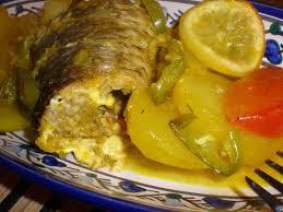 cuisiner du mulet tajine batata za3ra bil bouri tajine de pomme de terre au mulet