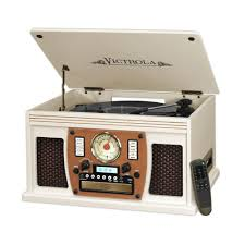 wall mounted record player victrola home audio home electronics the home depot