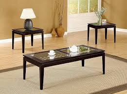 set of three end tables 57 set of three coffee tables office star knob hill 3 piece nesting