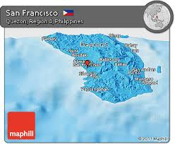 san francisco quezon map free political panoramic map of san francisco