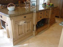 inimitable corner molding for kitchen island with waterfall