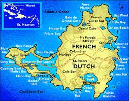 netherlands beaches map accenting st maarten caribbean