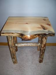 rustic pine end table log end table and coffee table products i love pinterest logs