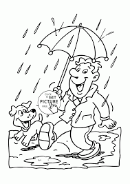 fall rain coloring pages for kids seasons printables free