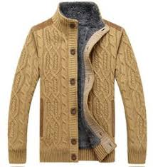 mens striped knitted thick warm half zipper stand collar casual