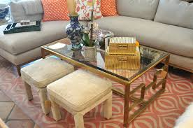bronze geometric frame coffee table mecox gardens