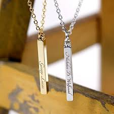 custom gold necklace same day shipping gift til 2pm cdt men s vertical id