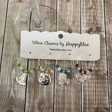 wine glass charms thanksgiving wine charms thanksgiving decor