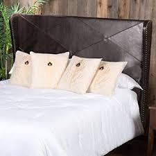 amazon com anson king cal king brown leather wingback headboard