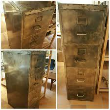 classeur metallique bureau meuble classeur 4 tiroirs ées 1950 rénové métal brossé