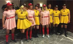 a league of their own costume mets rookies dressed up like a league of their own players and