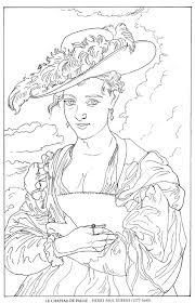 le chapeau de paille pierre paul rubens famous paintings coloring