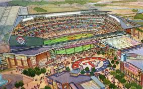 and the name of the new rangers stadium is ballparks of