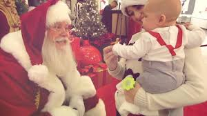 baby u0027s first time meeting santa 12 11 13 day 320 youtube