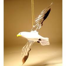 glass seagull ornament blown glass seagull ornamnet figurine
