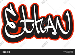 Name Style Design by Ethan Graffiti Font Style Name Hip Hop Design Template For T