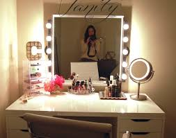 Glass Makeup Vanity Table Desk Makeup Vanity Desk With Lighted Mirror Stunning Vanity Desk