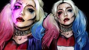 pop art squad harley quinn halloween makeup tutorial youtube