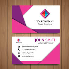 what goes with pink what goes on a business card pink business card with geometric