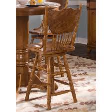 shop liberty furniture nostalgia medium oak counter stool at lowes com