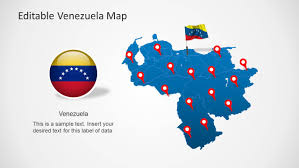 Venezuela Map Venezuela Map Template For Powerpoint Slidemodel