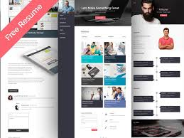 free personal cv resume web template u2013 psdboom