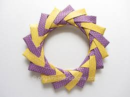 origami modular braided wreath folding