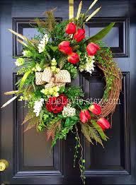 front door wreath ideas joyful handmade spring wreath ideas to decorate your front door