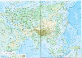 China Political Map by Large Detailed Physical Map Of Asia In China Asia Large Detailed
