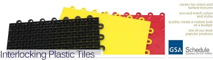 interlocking plastic tiles for trade booths snap together