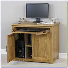 Small Oak Computer Desk Small Oak Hideaway Computer Desk Desk Home Design Ideas