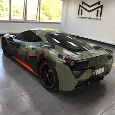 camo ferrari 458 mm luxury custom photos u0026 videos