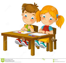 Kid At Desk by Children Learning Clip Art Clipart