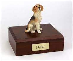 cremation urns for pets beagle cremation figurine urn w wooden storage box