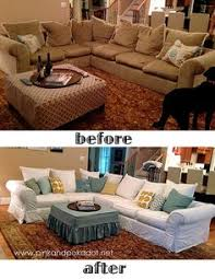 How To Slipcover A Sectional Make A Dropcloth Sofa Sectional Slipcover Diy Sectional