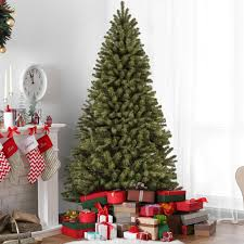 artificial christmas tree best choice products 7 5ft premium spruce hinged artificial