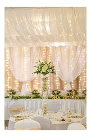 Ceiling Drapes With Fairy Lights Moments In Time Wedding U0026 Event Rentals Ceiling Drape And Head