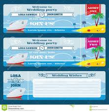retro boarding pass ticket wedding invitation template stock