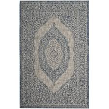 grey blue safavieh courtyard moroccan indoor outdoor grey blue area rug 5 3